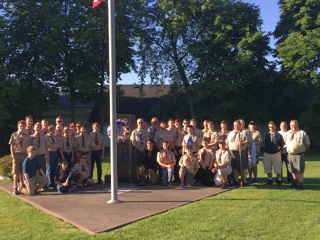 Troop 1 at the Karl Asplund Memorial
